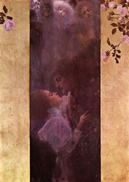 Klimt, Gustav: Allegory of Love, 1895. Fine Art Print/Poster. Sizes: A4/A3/A2/A1 (00647)